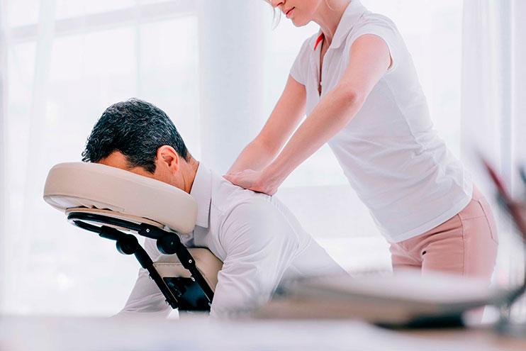 masajes de cuello y cabeza